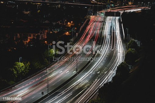 Night view of Malaysian highway