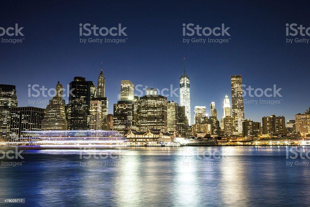 Night view of Manhattan royalty-free stock photo