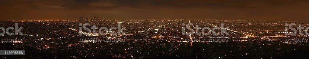 Night view of LA royalty-free stock photo