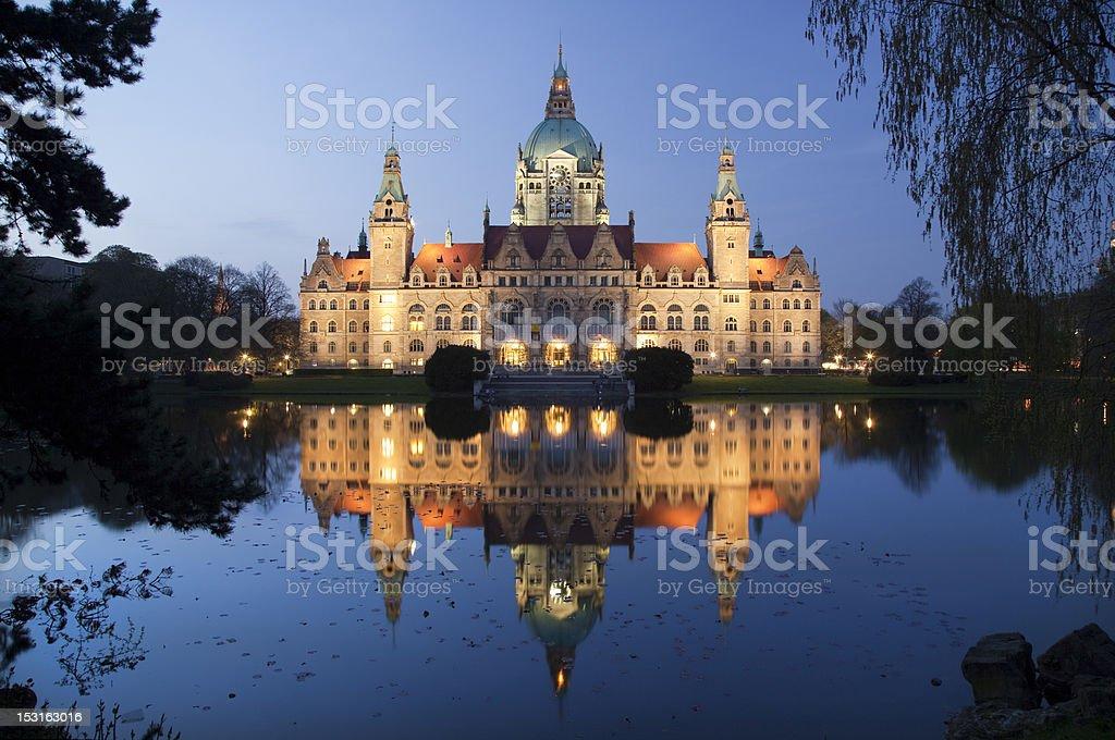 Blick auf das Rathaus in Hannover, Deutschland – Foto