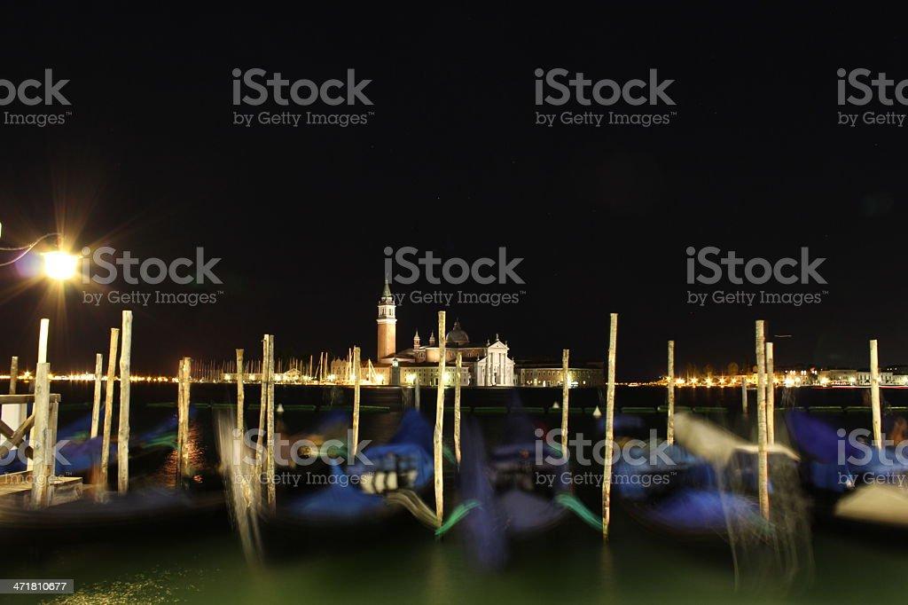 Night view of San Giorgio Maggiore Island royalty-free stock photo