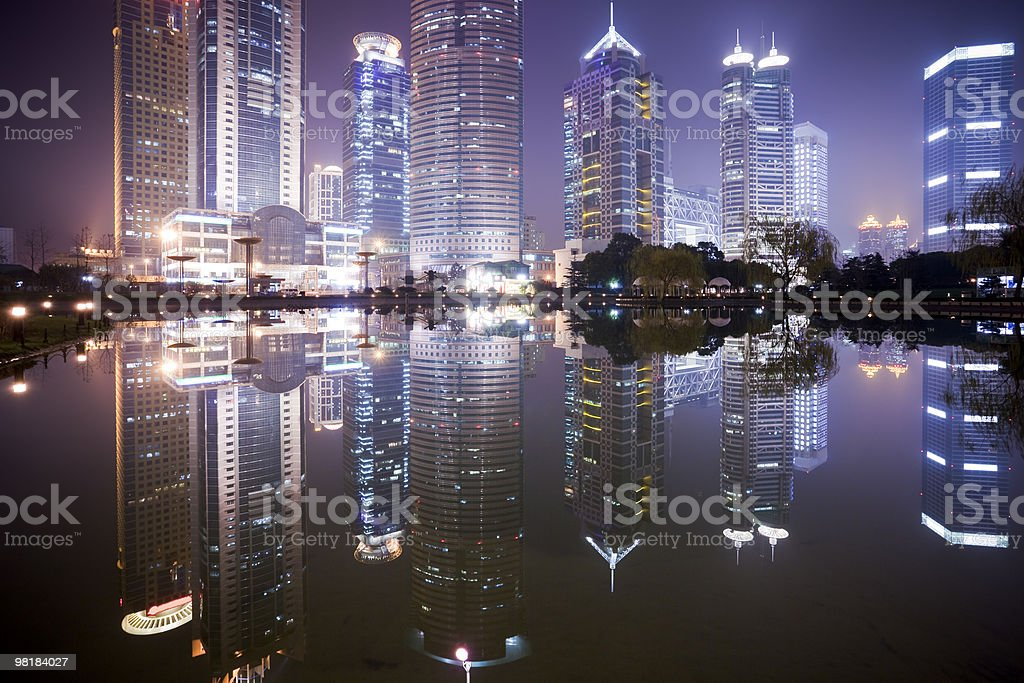 night view of shanghai royalty-free stock photo