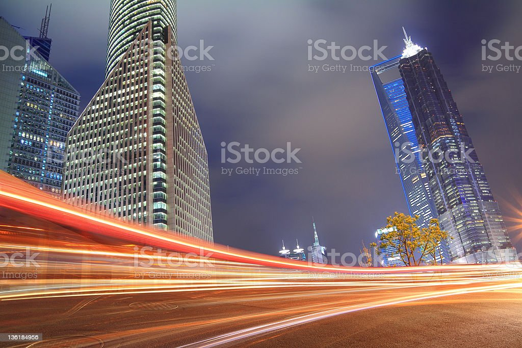 Night view of Shanghai urban landscapes royalty-free stock photo