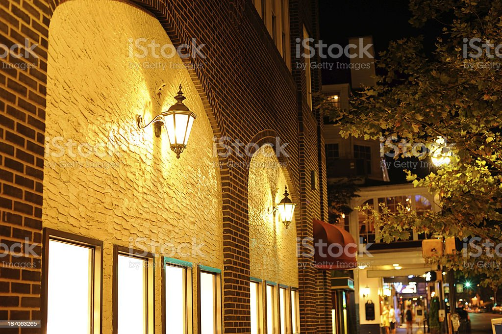 Night View of State College Downtown stock photo