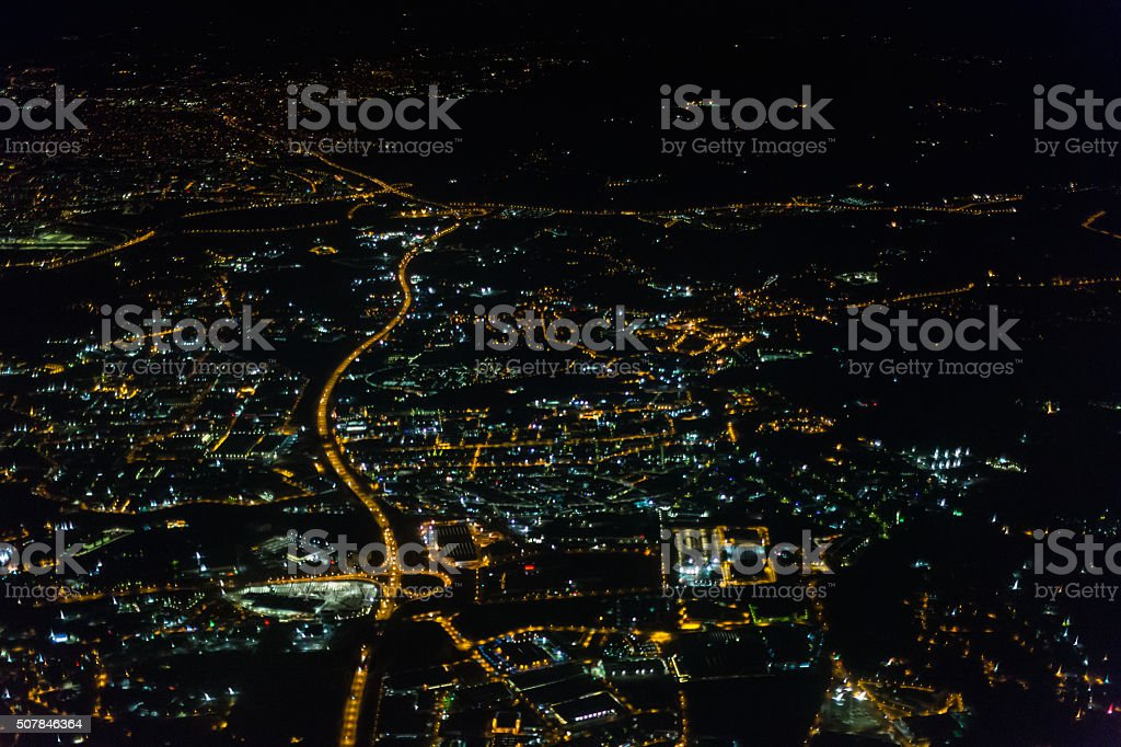 Night view of Tbilisi stock photo