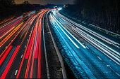 istock Night View of UK Motorway Highway 636295724