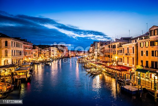 Night View Of Venetian Grand Canal
