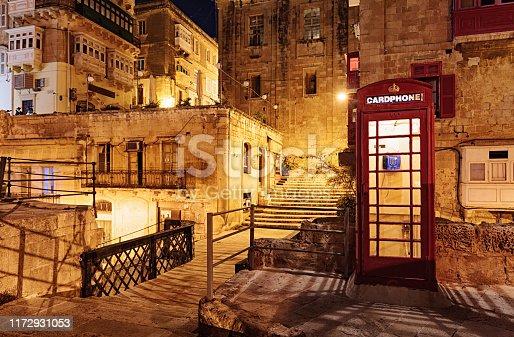 Evening in Valletta old town, Malta