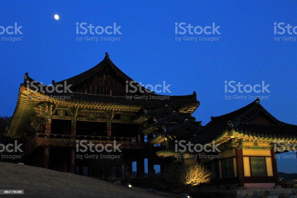 Night view of Yeongnamnu Pavilion royalty-free stock photo
