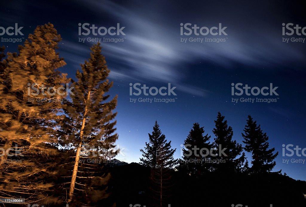 Night view on mountains royalty-free stock photo