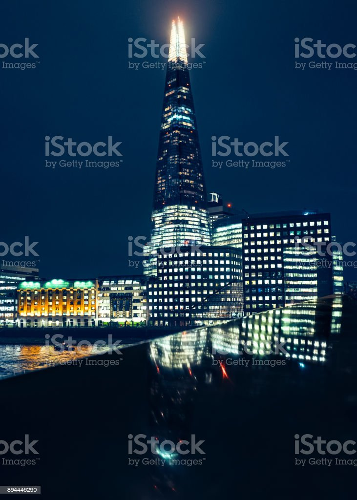 Night view on the London stock photo