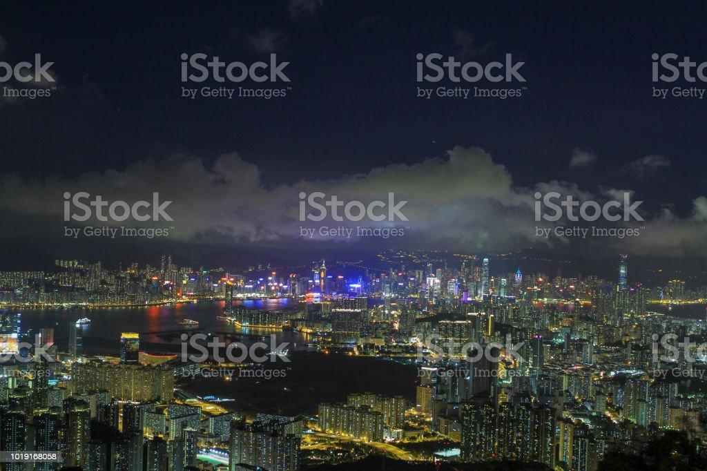 從九龍東區看的夜視區圖像檔