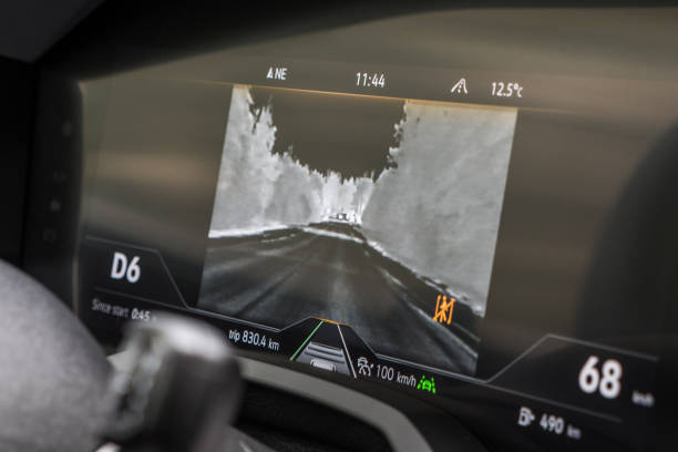 Night vision system of Volkswagen Touareg stock photo