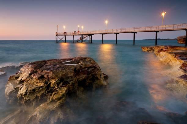 nightcliff jetty, darwin nt australia - darwin stock photos and pictures