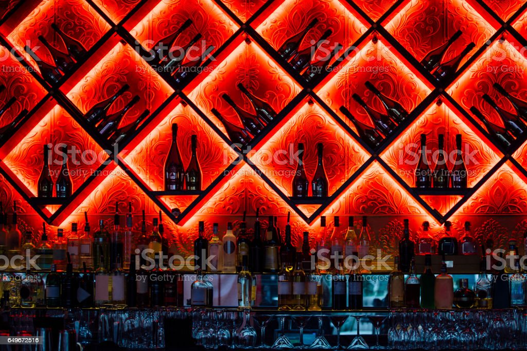 Nightclub Bar Interior stock photo
