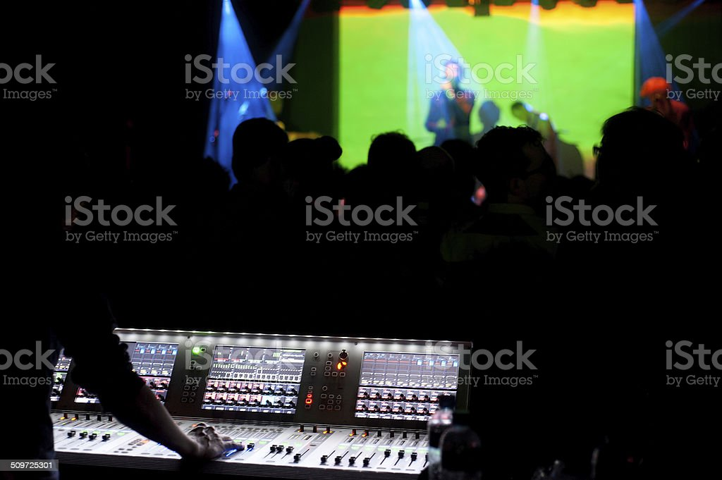 Nightclub concert stock photo
