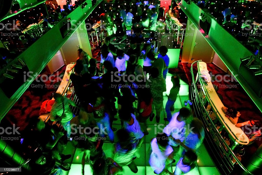 Nightclub Dance Crowd royalty-free stock photo