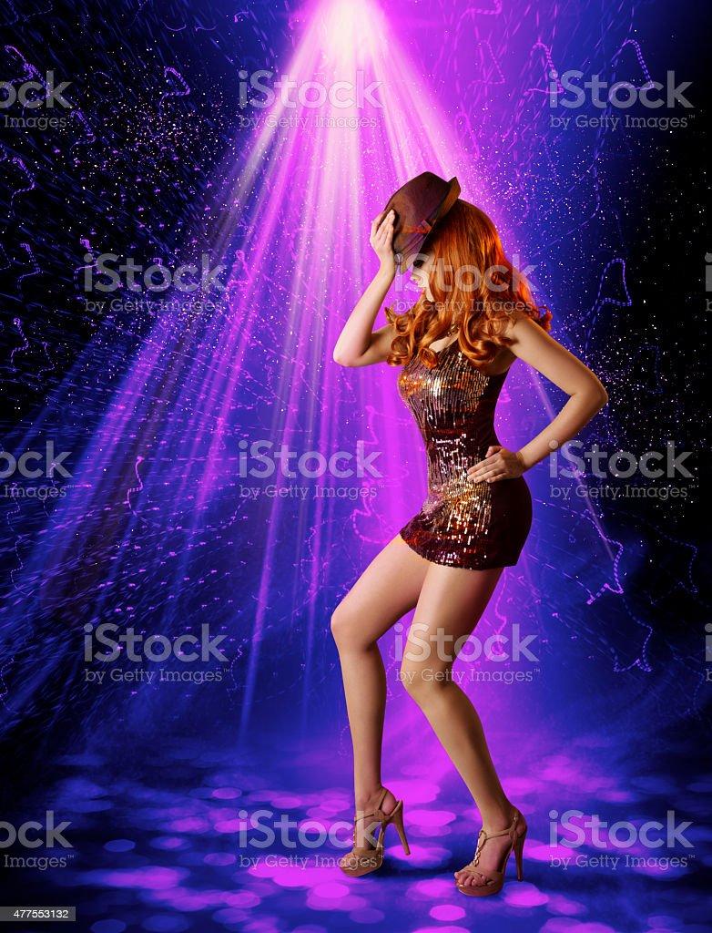 Fotografía de Dancing Girl Club Nocturno Club Nocturno Iluminación ...