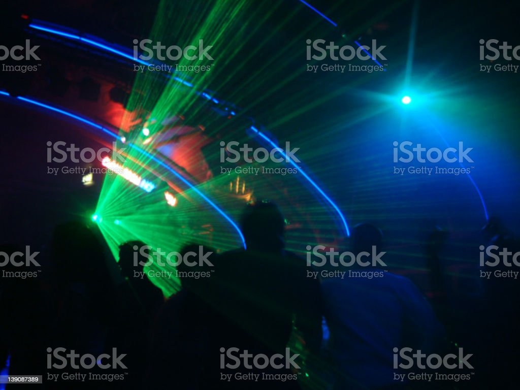 Nightclub Lights royalty-free stock photo