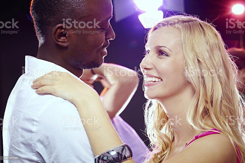 Nightclub romance stock photo