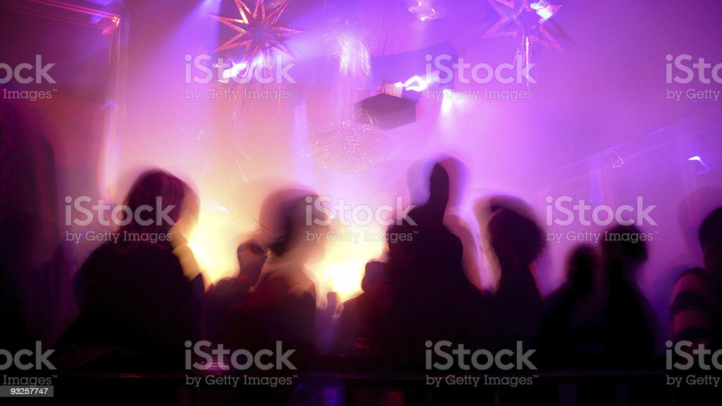 Nightclub Scene stock photo