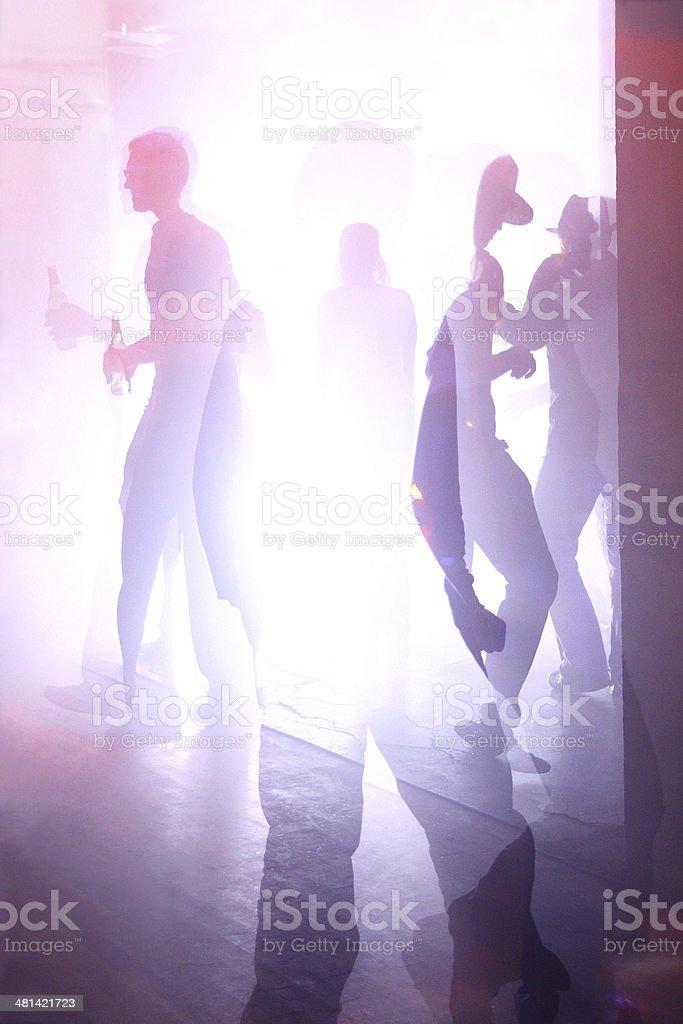 Nightclub scene with people on the dance floor stock photo
