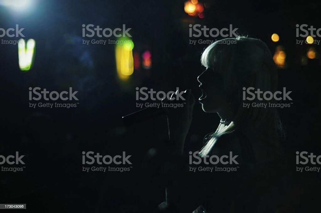 Nightclub Singer stock photo