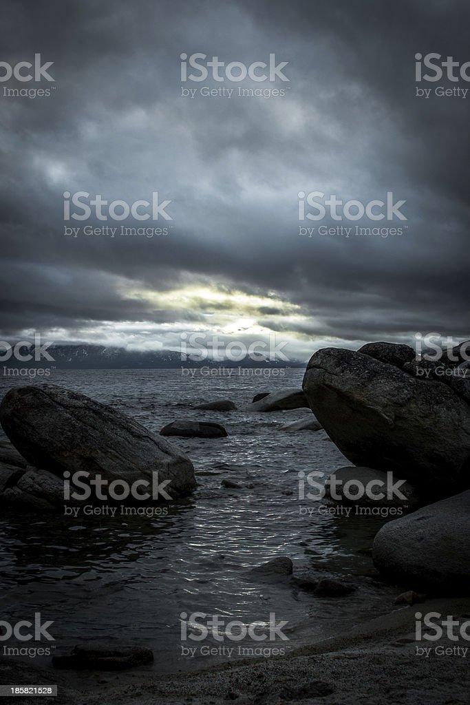 Nightfall at Lake Tahoe, North Shore royalty-free stock photo
