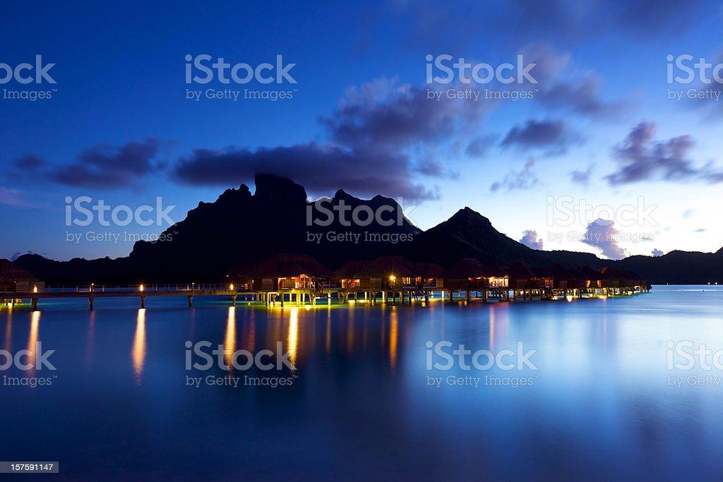 Nightfall in paradise royalty-free stock photo