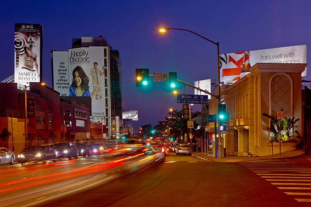 Nightime on the Sunset Strip In West Hollywood