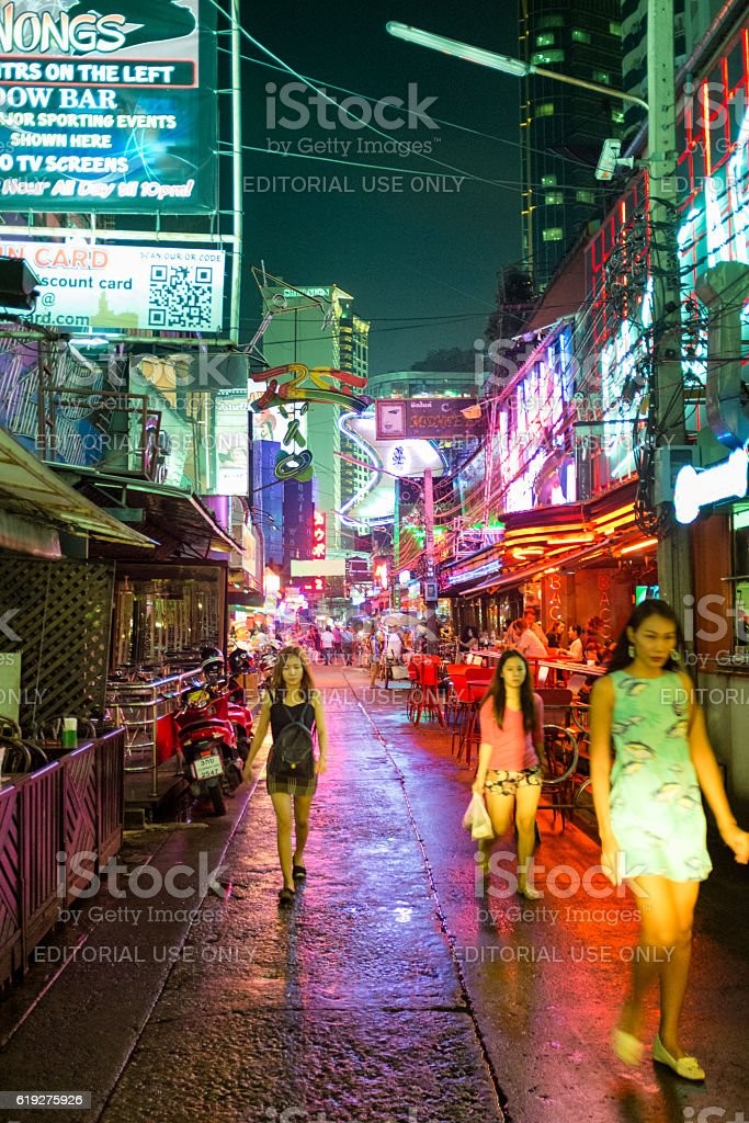 Nightlife Area Soi Cowboy In Bangkok, Thailand stock photo