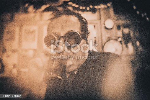 Portrait, beer, drinking, bizarre, vintage, Brighton - England, bar,
