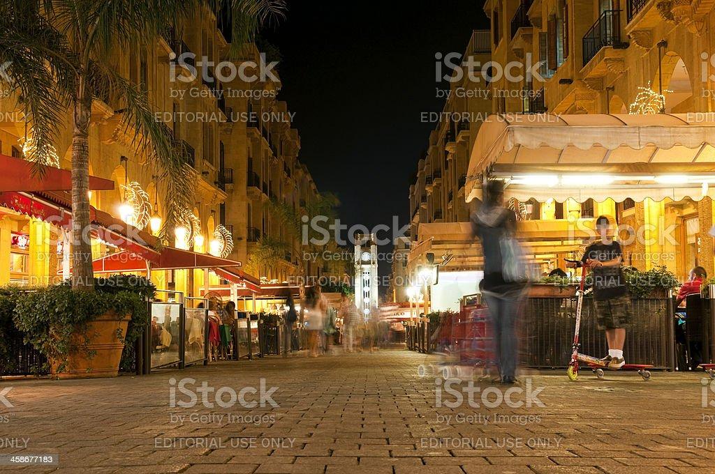 Nightlife in downtown Beirut, Lebanon stock photo