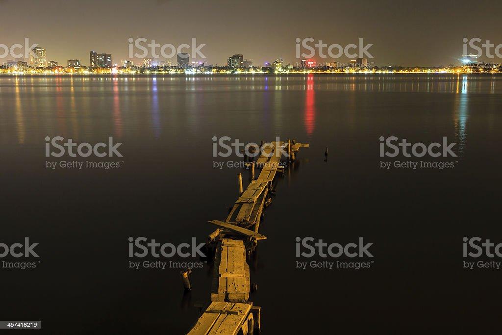 Nightlife in Hanoi stock photo