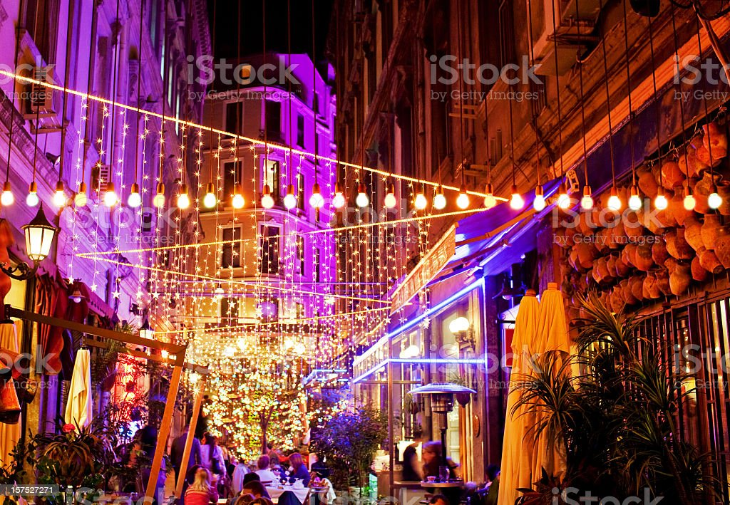 Nightlife in Istanbul stock photo