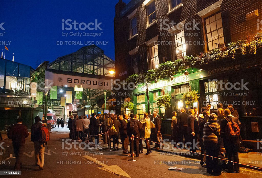 Nightlife in London stock photo