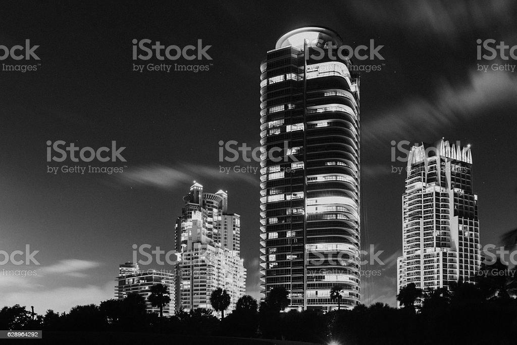 Nightlife in Miami stock photo