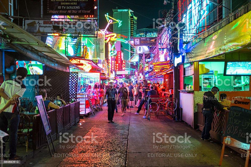 Nightlife In Soi Cowboy, Bangkok, Thailand stock photo