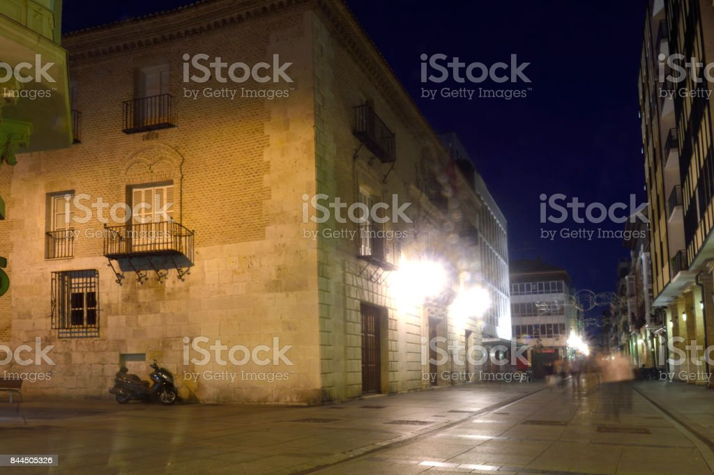nightlife in the historical center of the city of Palencia, Castilla y Leon, Spain stock photo