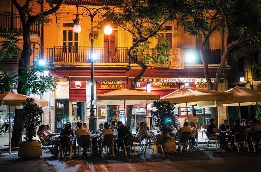 Nightlife in Valencia, Spain
