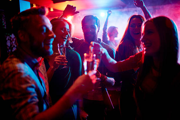 nightlife - nightclub stock photos and pictures