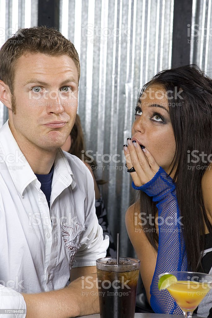 Nightlife Series-Caught Red Handed royalty-free stock photo