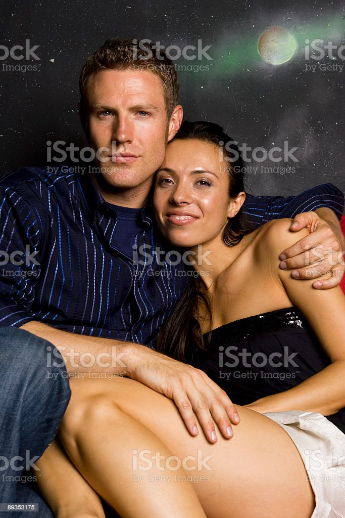 Nightlife Series-Couple Portrait royalty-free stock photo