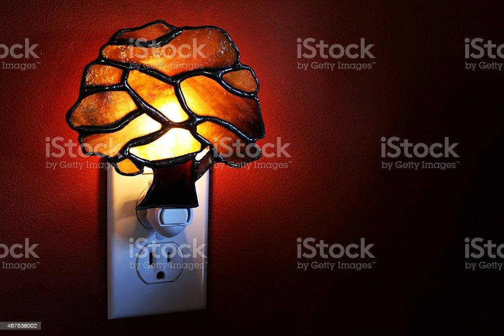 Nightlight Decorative nightlight providing dim light at night 2015 Stock Photo