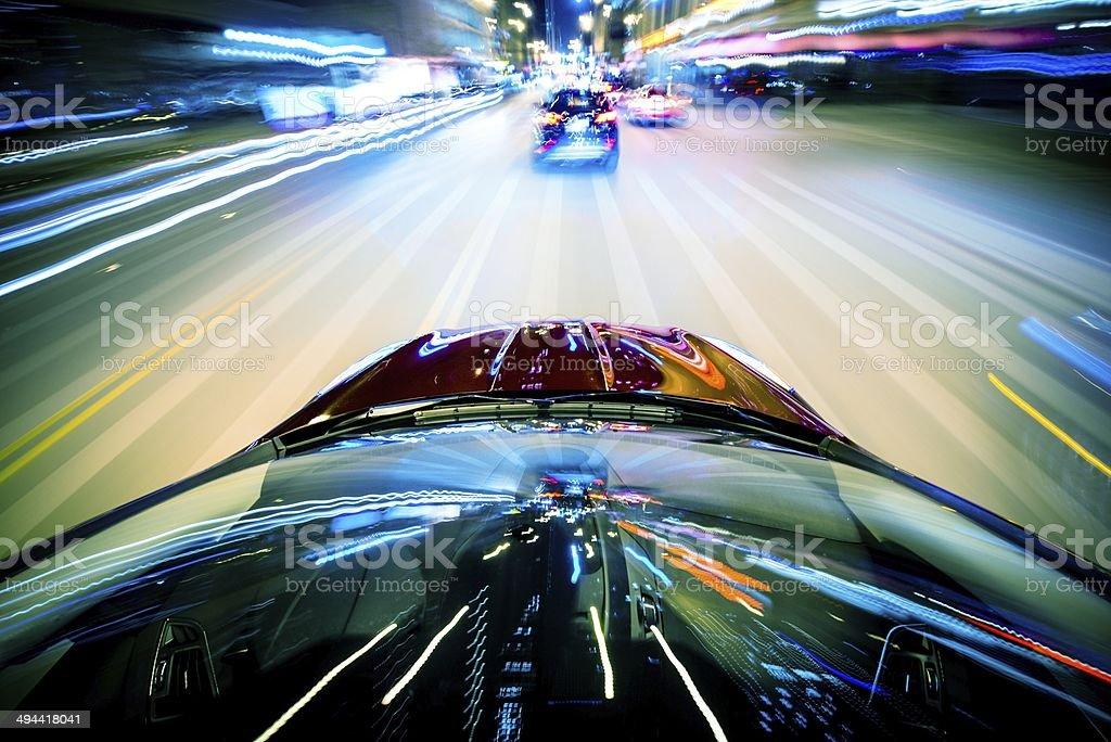 Nightly City Traffic stock photo