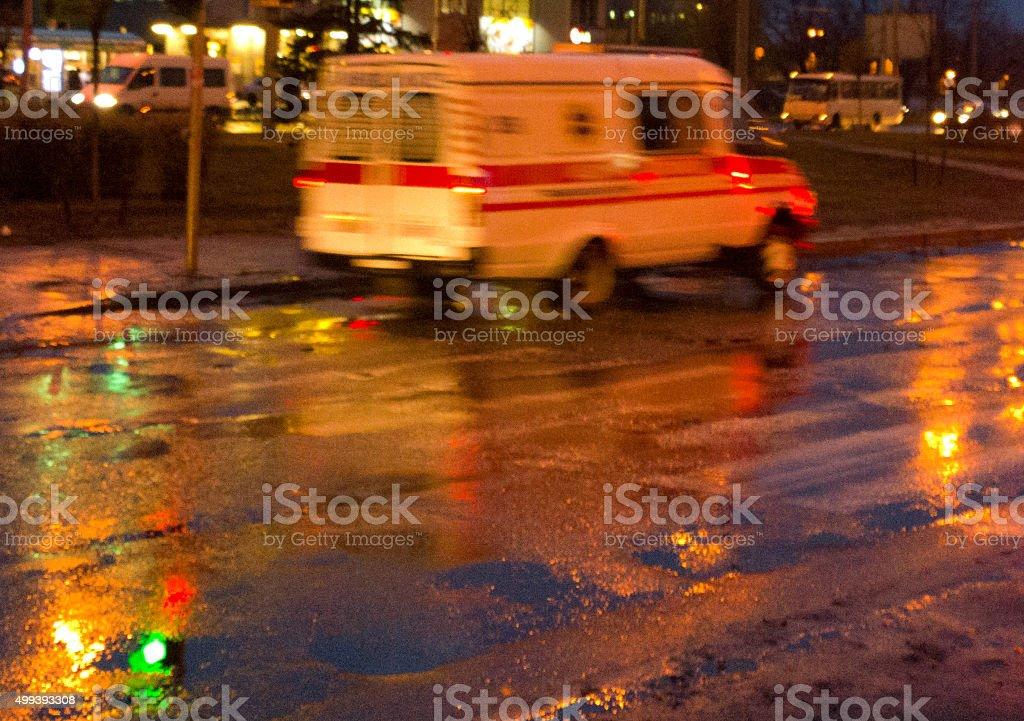 Nightly streets. stock photo