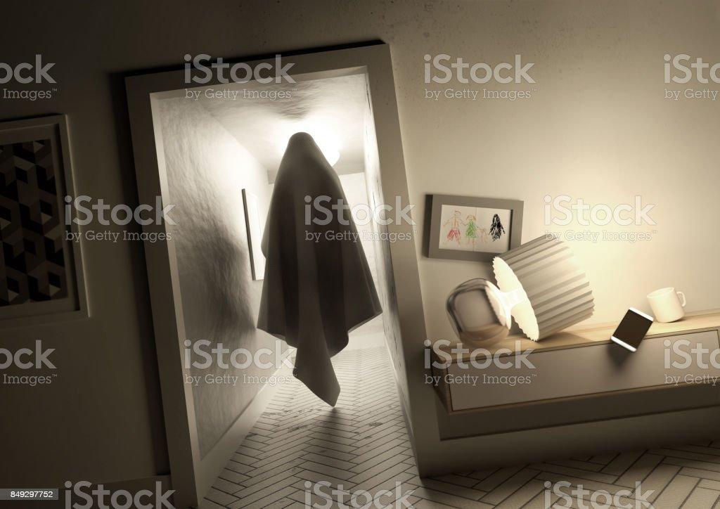 Nightmare Hallway stock photo