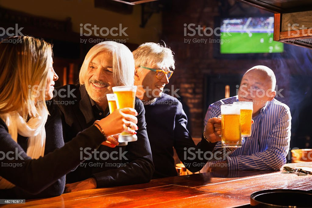 Nightout in a pub royalty-free stock photo