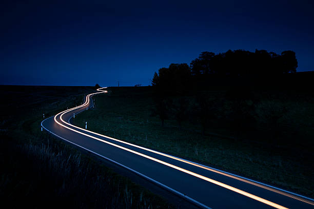 Nightride stock photo