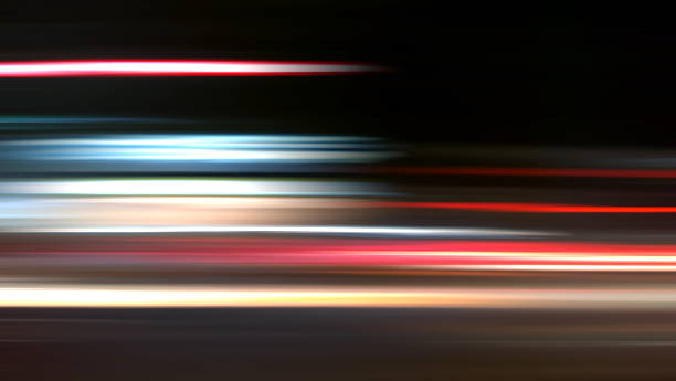Nightride Speed Background XXXL Abstract Nightride Speed in black Background long exposure stock pictures, royalty-free photos & images